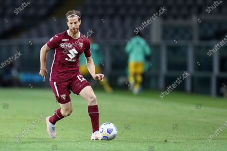 Cristian Ansaldi of Torino Fc in action during the Serie A match between Torino Fc and Parma Calcio at Stadio Olimpico on May 3 2021 in Torino, Italy.