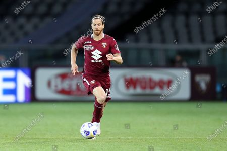 Cristian Ansaldi of Torino Fc looks on during the Serie A match between Torino Fc and Parma Calcio at Stadio Olimpico on May 3 2021 in Torino, Italy.