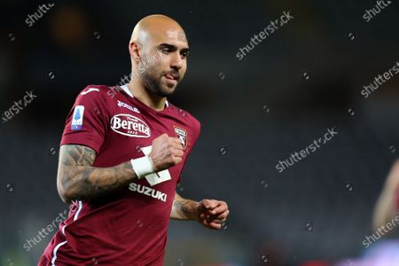 Simone Zaza of Torino Fc looks on during the Serie A match between Torino Fc and Parma Calcio at Stadio Olimpico on May 3 2021 in Torino, Italy.