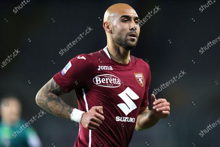 Stock Picture of Simone Zaza of Torino Fc looks on during the Serie A match between Torino Fc and Parma Calcio at Stadio Olimpico on May 3 2021 in Torino, Italy.
