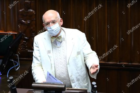 Editorial photo of Polish Sejm's extraordinary session to ratify EU's postpandemic recovery funds, Warsaw, Poland - 04 May 2021