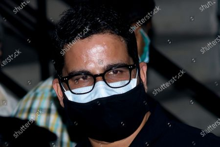 Prashant Kishor , Indian political strategist arrive TMC bhawan and join the TMC  party meeting with newly win TMC  Candidates  of the West Bengal legislative assembly election, in Kolkata on May 03,2021.