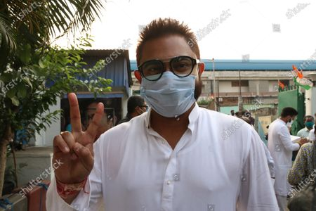 Trinamool Congress win Candidate and Actor  Soham Chakraborty of the West Bengal legislative assembly election, in Kolkata on May 03,2021.