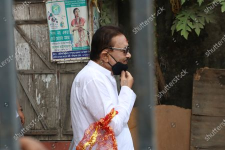 Stock Image of Trinamool Congress win Candidate Madan Mitra  of the West Bengal legislative assembly election, in Kolkata on May 03,2021.