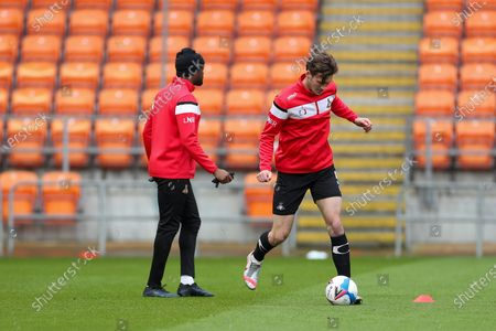Stock Picture of Doncaster Rovers Defender Joe Wright (5) in the pre match warm up during the EFL Sky Bet League 1 match between Blackpool and Doncaster Rovers at Bloomfield Road, Blackpool
