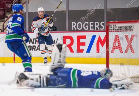 Editorial picture of Oilers Canucks Hockey, Vancouver, Canada - 03 May 2021