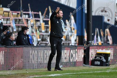 Luton Town Manager Nathan Jones  pointing, directing, signalling, gesture during the EFL Sky Bet Championship match between Luton Town and Rotherham United at Kenilworth Road, Luton