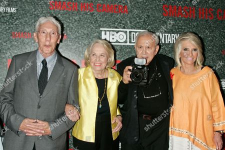 Leon Gast, Liz Smith, Ron Galella and President HBO Documentary Films, Sheila Nevins