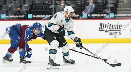 Editorial photo of Sharks Avalanche Hockey, Denver, United States - 01 May 2021