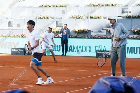 Editorial image of Mutua Madrid Open 2021: Kei Nishikori Training session, Madrid, Spain - 04 May 2021