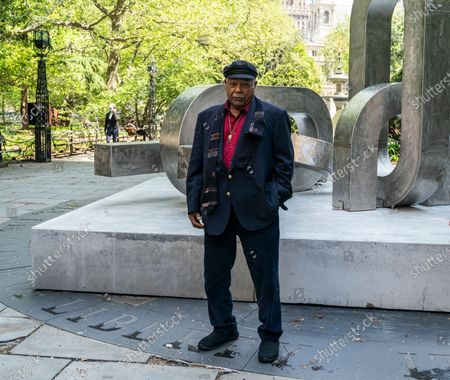 Editorial photo of NY: Unveiling of sculptures by Melvin Edwards, New York, United States - 04 May 2021