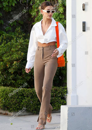 Editorial photo of Hailey Bieber out and about, Beverly Hills, Los Angeles, California, USA - 04 May 2021