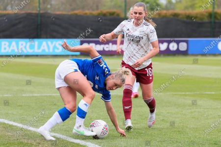 Stock Photo of Izzy Christiansen of Everton Ladies during Barclays FA Women's Super League between Everton Women and Arsenal at Walton Hall Park Stadium, Liverpool, UK on 02nd May 2021.