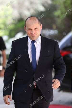 The Leader of the Yemina party, Naftali Bennett, enters the residence of President Reuven Rivlin, in Jerusalem, Israel, 05 May 2021. Israeli Prime Minister Benjamin Netanyahu failed to form a government with at least 61 Knesset seats as the deadline issued by the President has ended. The mandate to form a government is expected to pass to the Yesh Atid party and a rotation deal with Naftali Bennett.