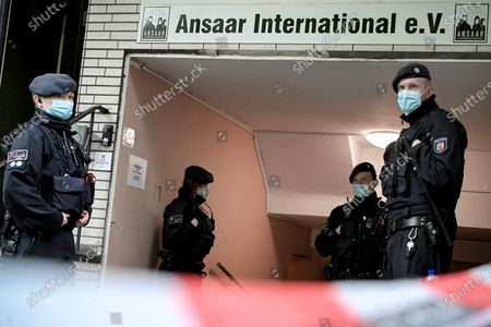 Police searches the premises of the Ansaar International aid organization in Duesseldorf, Germany, 05 May 2021. German Interior Minister Horst Seehofer has banned Ansaar International and its sub-organizations. Police is searching apartments and garages in ten German states, with a focus on North Rhine-Westphalia.