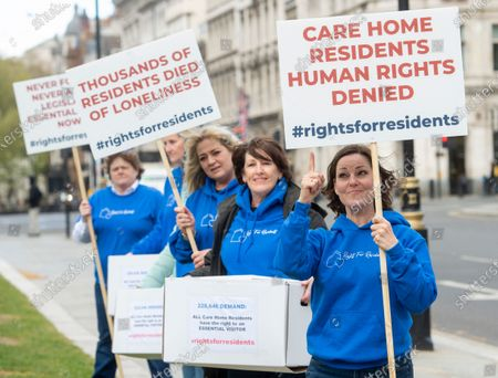 Actress Ruthie Henshall joins Rights for Residents campaigners in Parliament Square ahead of a 250k signature petition being handed in to Downing Street. The organisation is campaigning against overly restrictive visiting policies placed on care home residents.