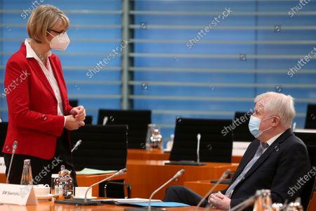 Stock Photo of Minister of Education Anja Karliczek and Minister of the Interior Horst Seehofer