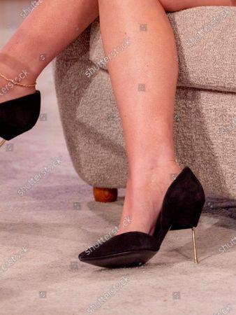 Emily Atack, shoe detail