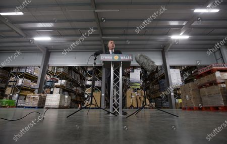 Plaid Cymru Leader Adam Price during the Eve of Election Poll Rally at Castell Howell Foods in Cross Hands, Llanelli. This is the final day of campaigning ahead of tomorrows Welsh Senedd Elections