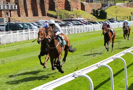 Dubai Fountain and Franny Norton win the Weatherbys ePassport Cheshire Oaks at Chester.