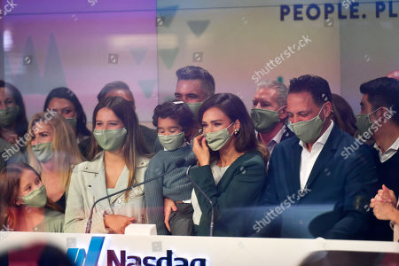Editorial photo of Jessica Alba rings the opening bell at NASDAQ, New York, USA - 05 May 2021