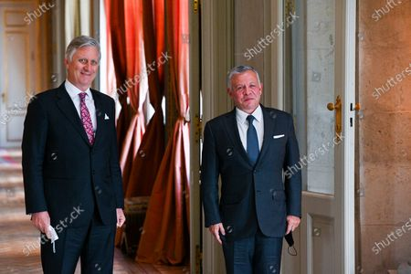 Editorial photo of King Philippe meets King Abdullah Ii Ibn Al Hussein, Brussels, Belgium - 05 May 2021