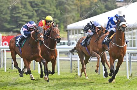 (L) Dark Pine (Laura Pearson) wins The Retraining Of Racehorses Handicap Stakes from (R) Fox Tal (Silvestre De Sousa).