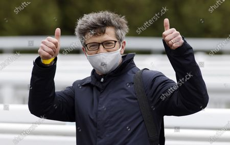 Roger Varian after Third Realm winning The Novibet Derby Trial StakesLingfield 8.5.2021Pic Dan Abraham