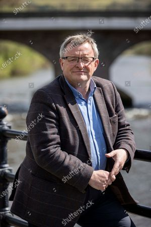 Stock Picture of Liberal Democrat Candidate William Powell out in Brecon campaigning the day before the election.