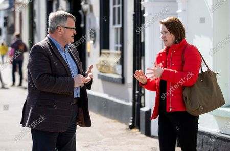 Editorial photo of Liberal Democrats Campaigning, Brecon, Wales - 05 May 2021