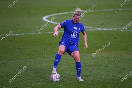 Millie Bright (#4 Chelsea) during the FA Women's Super League game between Tottenham v Chelsea at The Hive, London, England.