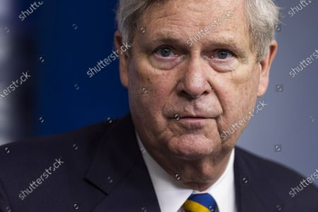 Stock Image of Agriculture Secretary Tom Vilsack speaks to the media about food and nutrition security in the White House Press briefing Room