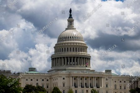 A view of the US Capitol in Washington, DC, USA, 05 May 2021. House Republicans have moved decisively to remove chairwoman of the House Republican Conference Liz Cheney from her leadership role with House Minority Whip Steve Scalise publicly calling for her ouster.