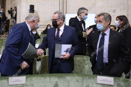 Gerard Larcher, Nicolas Sarkozy and Richard Ferrand