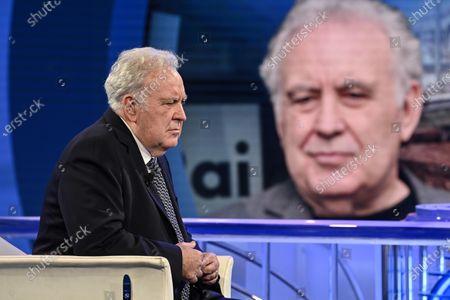 Editorial photo of Italian journalist Michele Santoro guest of tv talk show 'Porta a Porta', Rome, Italy - 05 May 2021