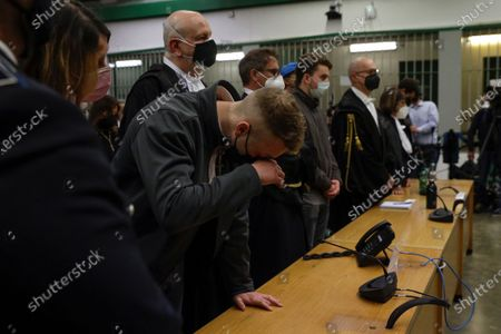 Finnegan Lee Elder listens as the verdict is read, in the trial for the slaying of an Italian plainclothes police officer in summer 2019, in Rome, . A jury in Rome on Wednesday convicted two American friends in the 2019 slaying of a police officer in a drug sting gone awry, sentencing them to life in prison. The jury deliberated more than 12 hours before delivering the verdicts against Finnegan Lee Elder, 21, and Gabriel Natale Hjorth, 20, handing them Italy's stiffest sentence