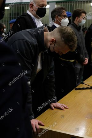 Finnegan Lee Elder and his co-defendant Gabriel Natale-Hjorth, right, listen as the verdict is read, in the trial for the slaying of an Italian plainclothes police officer on a street near the hotel where they were staying while on vacation in Rome in summer 2019, in Rome, . A jury in Rome on Wednesday convicted two American friends in the 2019 slaying of a police officer in a drug sting gone awry, sentencing them to life in prison. The jury deliberated more than 12 hours before delivering the verdicts against Finnegan Lee Elder, 21, and Gabriel Natale Hjorth, 20, handing them Italy's stiffest sentence