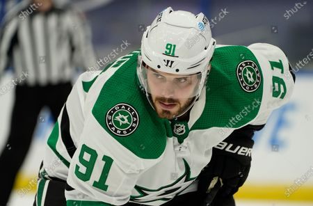 Dallas Stars center Tyler Seguin (91) during the third period of an NHL hockey game against the Tampa Bay Lightning, in Tampa, Fla