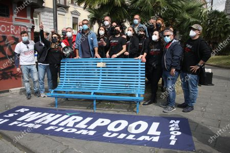 Editorial photo of Whirlpool workers initiative in Naples, Campania, Italy - 05 May 2021