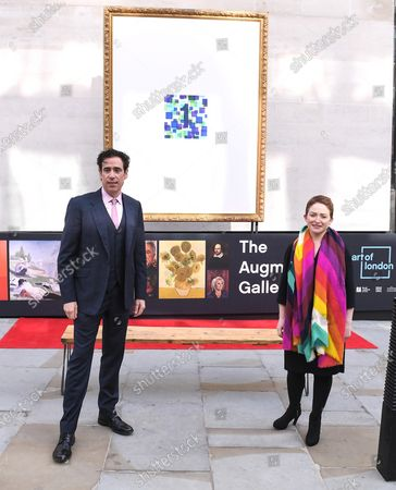 Actor, comedian and presenter Stephen Mangan and Chief Executive of Herat of London Business Alliance Ros Morgan unveil The Augmented Gallery today, marking the launch of Art of London, a new cultural initiative for the West End. The trail of 20 frames unlocks life size masterpieces from the National Gallery, the National Portrait Gallery, the Royal Academy of Arts and Sky Arts' Portrait Artist of the Year. From Titian to Tracey Emin, Van Gogh to Van Dyck, classics and contemporary pieces are brought to life through the lens of cutting-edge augmented reality.