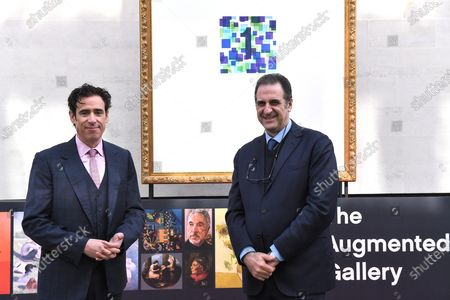 Actor, comedian and presenter Stephen Mangan and Director of theNational Gallery Gabriele Finaldi unveil The Augmented Gallery today, marking the launch of Art of London, a new cultural initiative for the West End. The trail of 20 frames unlocks life size masterpieces from the National Gallery, the National Portrait Gallery, the Royal Academy of Arts and Sky Arts' Portrait Artist of the Year. From Titian to Tracey Emin, Van Gogh to Van Dyck, classics and contemporary pieces are brought to life through the lens of cutting-edge augmented reality.