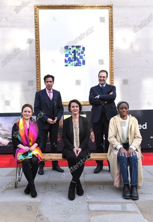 Ros Morgan, Stephen Mangan, Ros Lawler, Gabriele Finaldi, Ayo Akingbade unveil The Augmented Gallery today, marking the launch of Art of London, a new cultural initiative for the West End. The trail of 20 frames unlocks life size masterpieces from the National Gallery, the National Portrait Gallery, the Royal Academy of Arts and Sky Arts' Portrait Artist of the Year. From Titian to Tracey Emin, Van Gogh to Van Dyck, classics and contemporary pieces are brought to life through the lens of cutting-edge augmented reality.