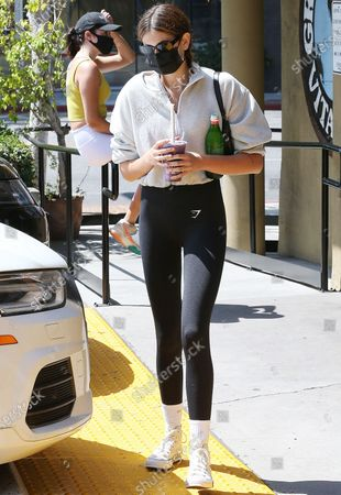 Stock Picture of Kaia Gerber leaving Earth Bar