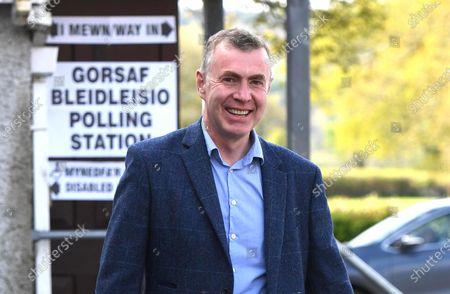 Plaid Cymru leader Adam Price after voting in the Senedd election at his local polling station Pontargothi Memorial Hall, Pontargothi, Carmarthen.