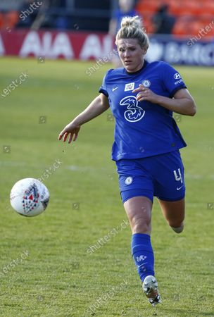 EDGWARE, ENGLAND - MAY 05:Millie Bright of Chelsea FC Women  during  FA Women's Spur League betweenTottenham Hotspur and Chelsea  at The Hive stadium , Barnet , London , UK on 05th May 2021