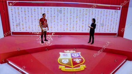 Presenter Lee McKenzie talks to British and Irish Lions captain Alun Wyn Jones virtually