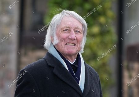 Sir Gareth Edwards and JPR Williams at the funeral of former Wales and British Lions captain and coach John Dawes at Llandaff Cathedral, Cardiff