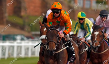 Stock Picture of LOVE IS GOLDEN (Franny Norton) wins The Boodles Handicap Chester