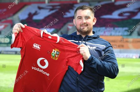 Stock Photo of Wyn Jones of Scarlets and Wales after being named in the British & Irish Lions squad to tour South Africa this summer.