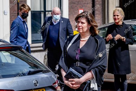 Stock Photo of Frans Timmermans and the wife of Ineke Sybesma